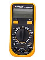 Victor® victor201 lcd карманный цифровой мультиметр автоматический дальномер ac / dc ohm электронный измерительный детектор для домашнего