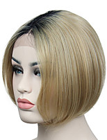 Fashion Ombre Wigs Lace Front Wigs for Women Short Straight Dark Hair Root Bob Synthetic Hair Wigs