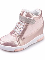 Women's Sneakers Spring Comfort PU Casual Silver White Gold
