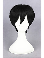 Kagerou Project-Kisaragi Shintaro Black Anime 14inch Cosplay Wig CS-167A