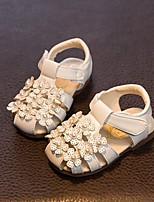 Girls' Sandals Summer Comfort Synthetic Dress Casual Flat Heel Blushing Pink White