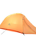 1 personne Tente Double Tente pliable Une pièce Tente de camping Silicone Portable Pliable-Camping Extérieur-Orange