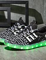 Tenisky-Personalizované materiály-Light Up boty-Chlapecké-Šedá Fuchsiová Zelená Modrá Růžová-Outdoor Běžné Atletika-Plochá podrážka