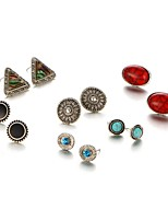 6Pcs/set Stud Earrings Unique Design Geometric Alloy Jewelry For Party Daily Casual 1 Set