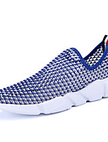 Men's Loafers & Slip-Ons Spring Summer Comfort Hole Shoes Couple Shoes Tulle Outdoor Athletic Casual Running Flat HeelRoyal Blue Red