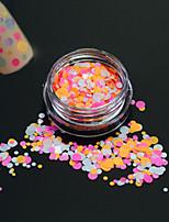 1bottle moda unha arte glitter rodada paillette doce decoração nail art diy beleza colorido redondo fatia p32