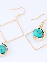 Asymmetric Drop Earrings Euramerican Fashion Alloy Geometric Jewelry For Party 1 Pair