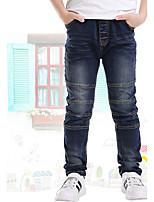 Para Meninos Jeans Happy-Hour Casual Escola Bordado Verão Primavera Outono Algodão