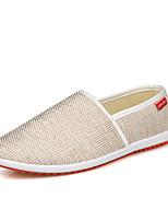 -Для мужчин-Повседневный-Ткань-На плоской подошве-Удобная обувь-Спортивная обувь