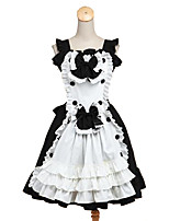 Maid Suits Sweet Lolita Rococo Cosplay Lolita Dress Solid Color Sleeveless Knee-length Dress Apron For Padded Fabric
