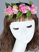 Feminino Fofo Festa Casual Tecido Outros Primavera Verão Outono Lenço de Cabelos Bandana