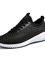 Men's Sneakers Spring Summer Mary Jane Comfort PU Outdoor Athletic Casual Flat Heel Lace-up Walking