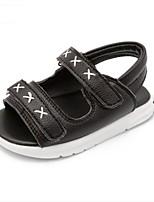 Для детей Дети Сандалии Обувь для малышей Кожа Лето Повседневные Обувь для малышей На плоской подошве Белый Черный На плоской подошве