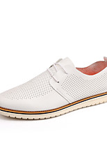 Men's Oxfords Spring / Fall / Winter Comfort Casual Flat Heel Lace-up Black / White / Yellow