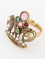 Euramerican Multicolor Vintage Bohemian Multi-stone Women's Casual Cuff Crown Ring Movie Jewelry