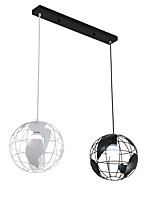 20cm Vintage Creative Terrestrial globe Pendant Lights 2-Head Loft Creative Industrial Lamp For Living Room Restaurant Bars Clothing Store decoration