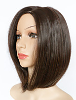 Chestnut Brown 12 inches Cosplay Party Short Straight Bob Hair Synthetic Wigs