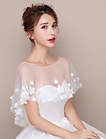 Wickeltücher für Frauen Schals Tüll Hochzeit Party geschmuckt mit der Blumen