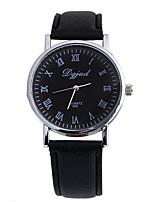 Жен. Муж. Универсальные Модные часы Кварцевый Кожа Группа Повседневная Черный