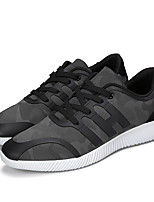 Men's Sneakers Spring Fall Comfort Tulle Outdoor Casual Lace-up Gray Black