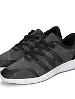 Черный Серый-Для мужчин-Для прогулок Повседневный-ТюльУдобная обувь-Кеды