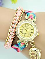 Mujer Reloj de Moda Reloj Pulsera Cuarzo Tejido Banda Bohemio Múltiples Colores