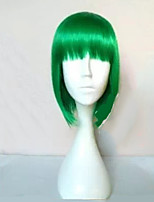 Capless Medium Length Straight BOB Wig Synthetic Hair Wigs Full Bang 5 Colors