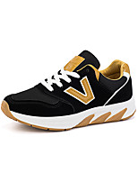 Women's Sneakers Spring Summer Ankle Strap Tulle Outdoor Casual Black/Yellow White/Purple Fuchsia