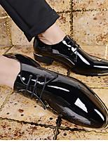 Masculino-Oxfords-Chanel-Salto Grosso--Couro Ecológico-Casual