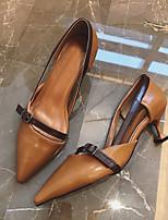Talons féminins club d'été chaussures fête en caoutchouc&Soir, brun foncé, beige