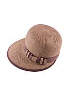 Для женщин Очаровательный Для вечеринки На каждый день Шляпа от солнца,Весна Лето осень Соломка Однотонный
