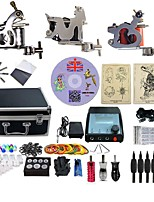 Complete Tattoo Kit 3 G3A15A5A13P Machines Liner & Shader Dual LED Power Supply