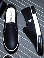 -Для мужчин-Повседневный-Полиуретан-На толстом каблуке-Босоножки-Туфли на шнуровке