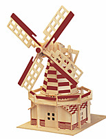 Jigsaw Puzzles 3D Puzzles Building Blocks DIY Toys Famous buildings Chinese Architecture Wood Leisure Hobby