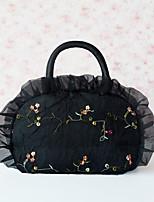 Women Canvas Outdoor Clutch Black