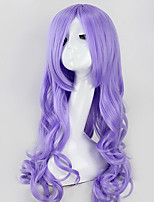 High Quality Long Wave Purple Color Wigs Fashion Sexy Women Wigs Natural Hair Synthetic Wigs