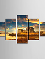 Giclee Print Landscape Modern Classic,Five Panels Canvas Any Shape Print Wall Decor For Home Decoration