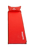 Moistureproof/Moisture Permeability Inflated Mat Camping Pad Red Camping Traveling