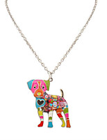 Women's Men's Pendant Necklaces Jewelry Animal Shape Chrome Unique Design Logo Style Dangling Style Animal Design Handmade Rainbow Jewelry