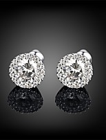 Women's Stud Earrings AAA Cubic Zirconia Basic Circular Unique Design Rhinestone Simple Style Costume Jewelry Fashion Vintage Bohemian