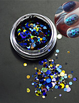1Bottle Nail Art Mixed Size Colorful Fashion Round Slice Laser Glitter Paillette Slice Nail Art Decoration P5