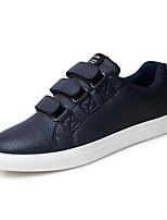 Белый Черный Темно-синий-Для мужчин-Повседневный-ДерматинУдобная обувь-Кеды