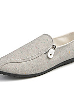 Men's Loafers & Slip-Ons Spring Fall Moccasin Comfort PU Casual Black White