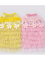 Dog Dress Dog Clothes Summer Princess Cute Fashion Casual/Daily Blushing Pink Yellow