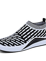 Men's Sneakers Spring Summer Comfort Tulle Outdoor Athletic Casual Flat Heel Black/White Running