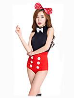 Cosplay Kostüme Party Kostüme Maskerade Hasenmädchen Cosplay Film Cosplay Gymnastikanzug/Einteiler Kopfbedeckung Halloween Karneval Frau