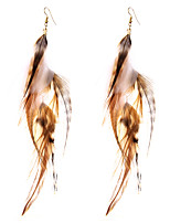 lureme® Drop Earrings Jewelry Geometric Luxury Sideways Fake Simple Style British Feather Alloy Geometric Wings / Feather Jewelry ForBirthday