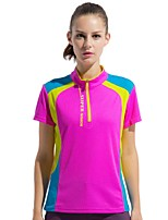 Women's T-shirt Camping / Hiking Fishing Climbing Breathable Quick Dry Wearable Summer Sky Blue Fuchsia Purple Orange