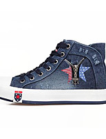 Women's Sneakers Spring Comfort Canvas Casual Screen Color Light Blue Dark Blue