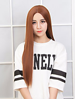 Popular Brown Color Straight Synthetic Wigs For Daily Women